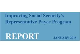 Improving Social Security's Rep Payee program title graphic