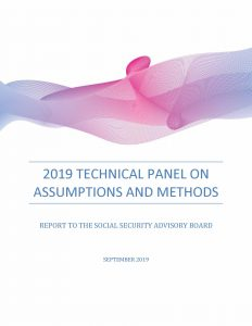 Brightly colored decorative cover of the 2019 Technical Panel report